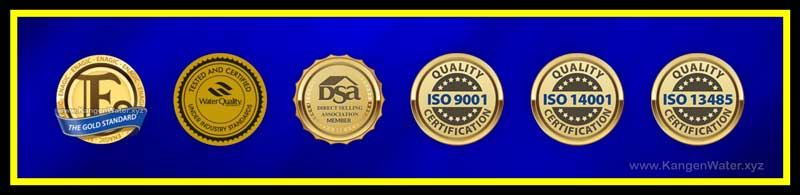kangen water certifications awards