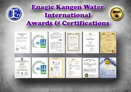 kangen water awards certifications